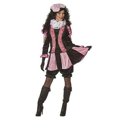Fancy piet pietenpak dames rose/zwart