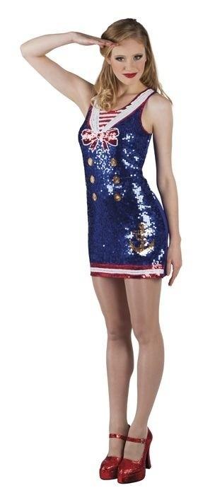 Foto van Pailletten jurkje Navy