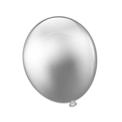 Foto van Ballonnen platinum zilver (28cm)