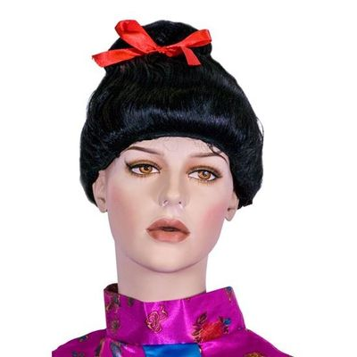 Geisha pruik zwart