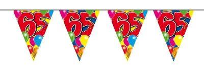 Vlaggenlijn balloons 65 jaar 10M