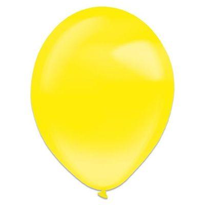 Ballonnen yellow sun crystal (35cm) 50st