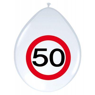 Foto van Ballonnen Verkeersbord 50 jaar /8st