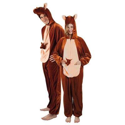 Onesie kangoeroe volwassenen