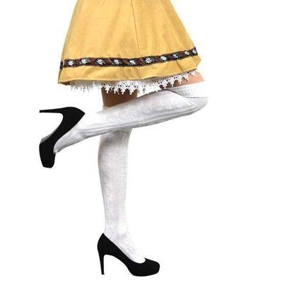 Foto van Tiroler sokken wit hoog