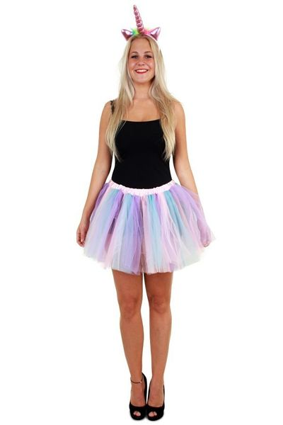 Tule rokje pastel unicorn dames one size