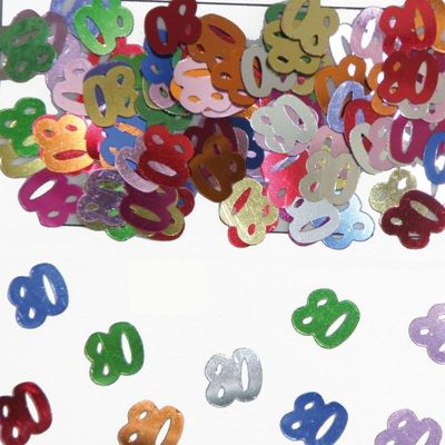 Foto van Tafel Confetti 80 jaar