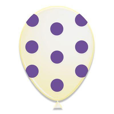 Ballonnen Violet Stippen 6st