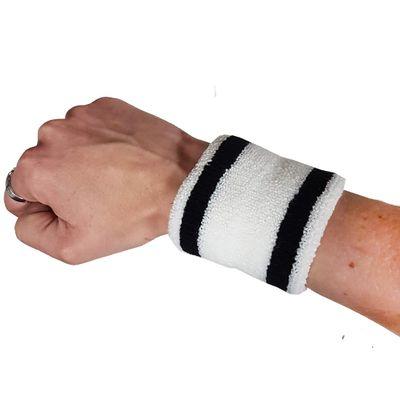 Zweetbandje polsband zwart/wit