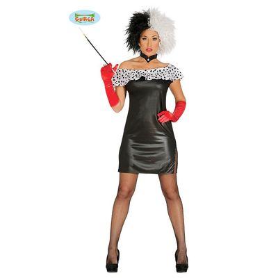 Foto van Cruella de Vil kostuum