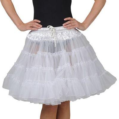 Petticoat rok wit - 2 laags