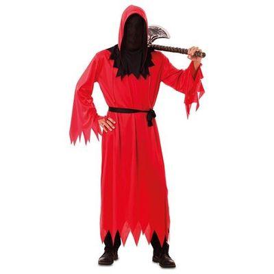 Foto van Magere Hein kostuum - rood