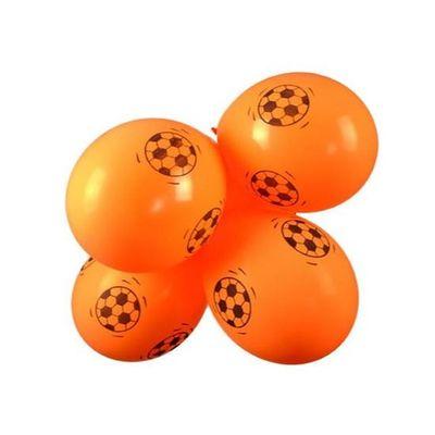 Foto van Ballonnen oranje met voetbal