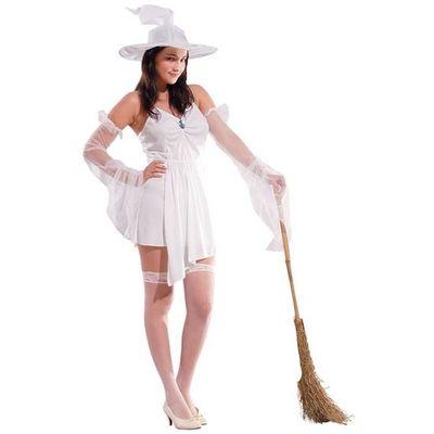 Foto van Witte heks kostuum