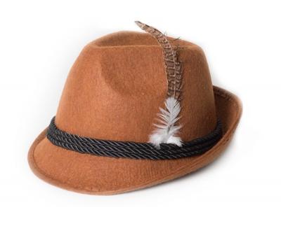 Oktoberfest hoed bruin