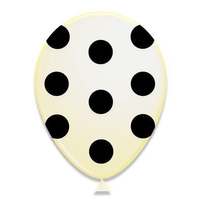 Ballonnen Zwarte Stippen 6st