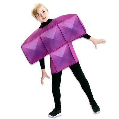 Foto van Tetris kostuum paars kind