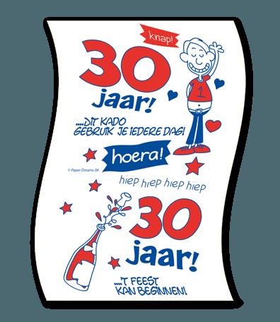 Verwonderlijk Wc papier 30 jaar man kopen?    Confettifeest.nl UQ-78