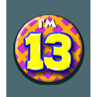Foto van Button 13 jaar