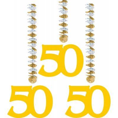 Foto van Hangdecoratie 50 Goud/3