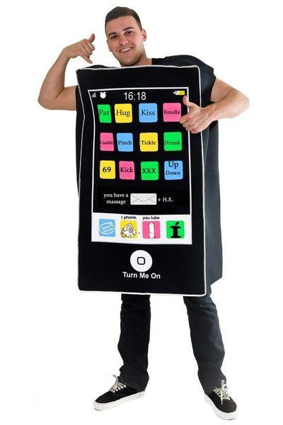 Smartphone kostuum unisex one size