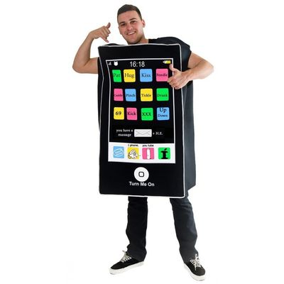 Foto van Smartphone kostuum unisex one size