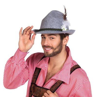 Tiroler hoed grijs