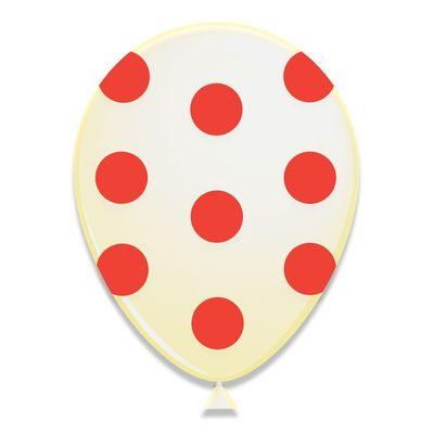 Ballonnen Rode Stippen 6st