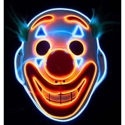 Foto van Masker Clown met licht happy face