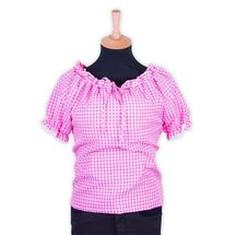 Tiroler blouse dames roze