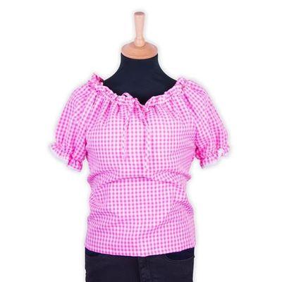 Tiroler blouse dames roze