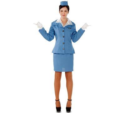 Stewardess kostuum - blauw