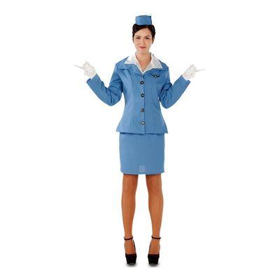 Foto van Stewardess kostuum - blauw