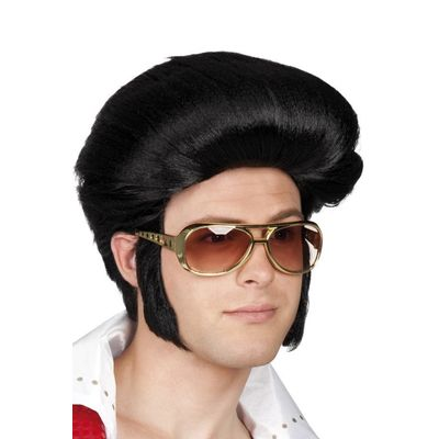 Foto van Elvis pruik zwart