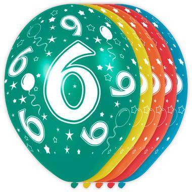 Leeftijd ballonnen 6 jaar 5 stuks