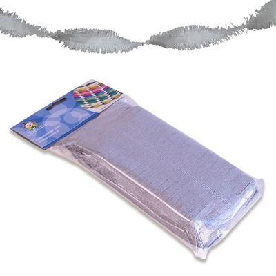 Crepe papier slinger zilver 6 m