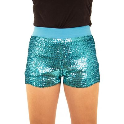 Foto van Glitter broekje showgirl blauw