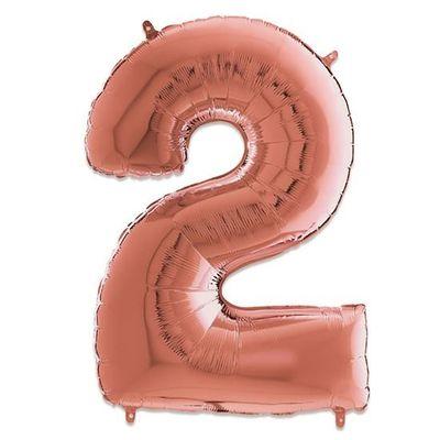 Folieballon 8 roze