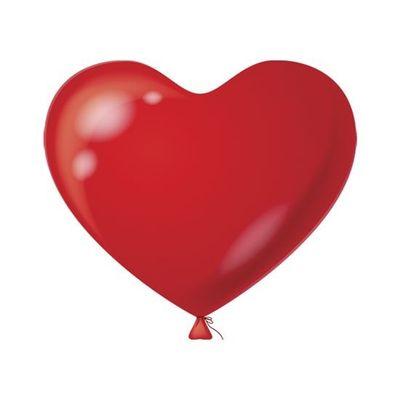 Foto van Hart Ballon rood (100 stuks)