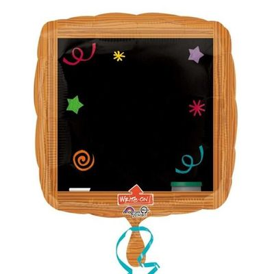 Folieballon wood frame write-on