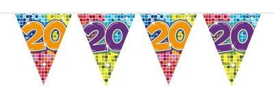 Mini Vlaggenlijn Bday Blocks 20 jaar