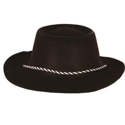 Cowboyhoed plastic zwart