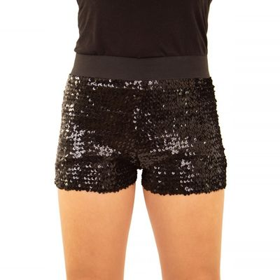 Foto van Glitter broekje showgirl zwart