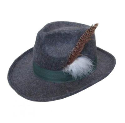 Oktoberfest hoed grijs - luxe