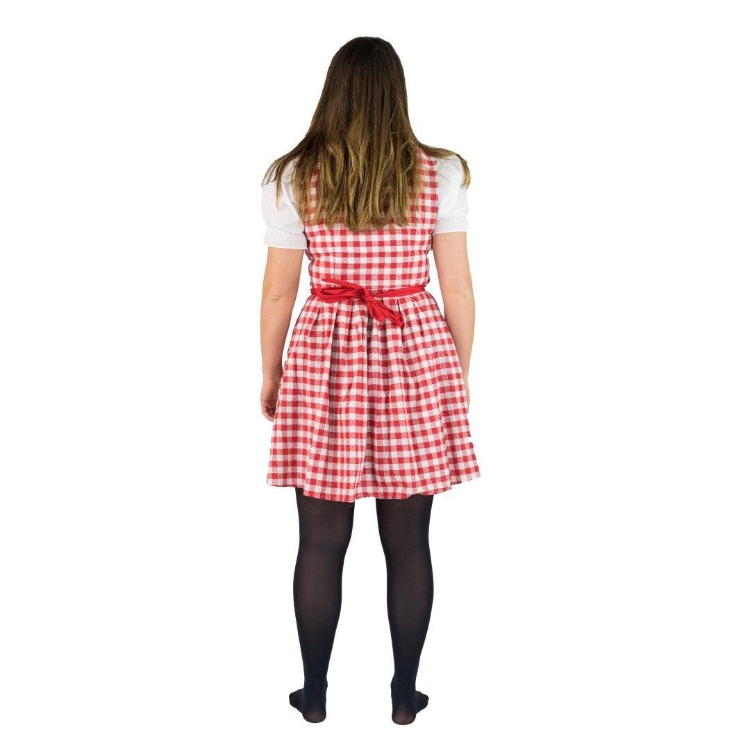 Afbeelding van Dirndl jurkje rood - Annabel