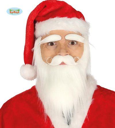 Kerstman baard snor en wenkbrauwen