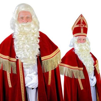 Foto van Sinterklaas baard TV-Sint kanekalon (55cm)