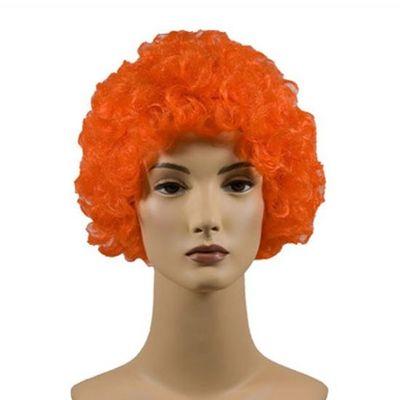 Foto van Afro Pruik oranje