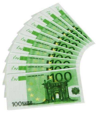 Servet 100 Euro/10stk