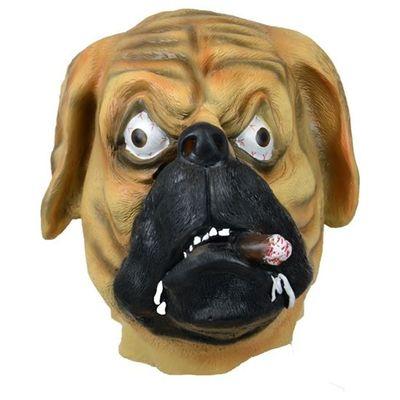 Foto van Masker hond met sigaar